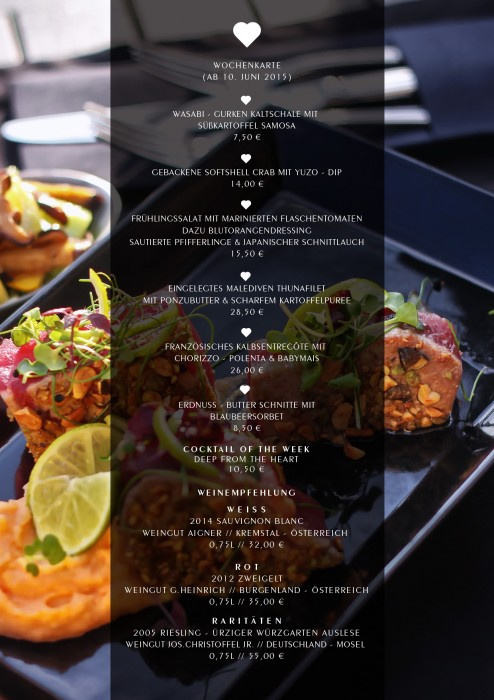 Wochenkarte Juni 2015 - Leichte Sommergerichte zum genießen