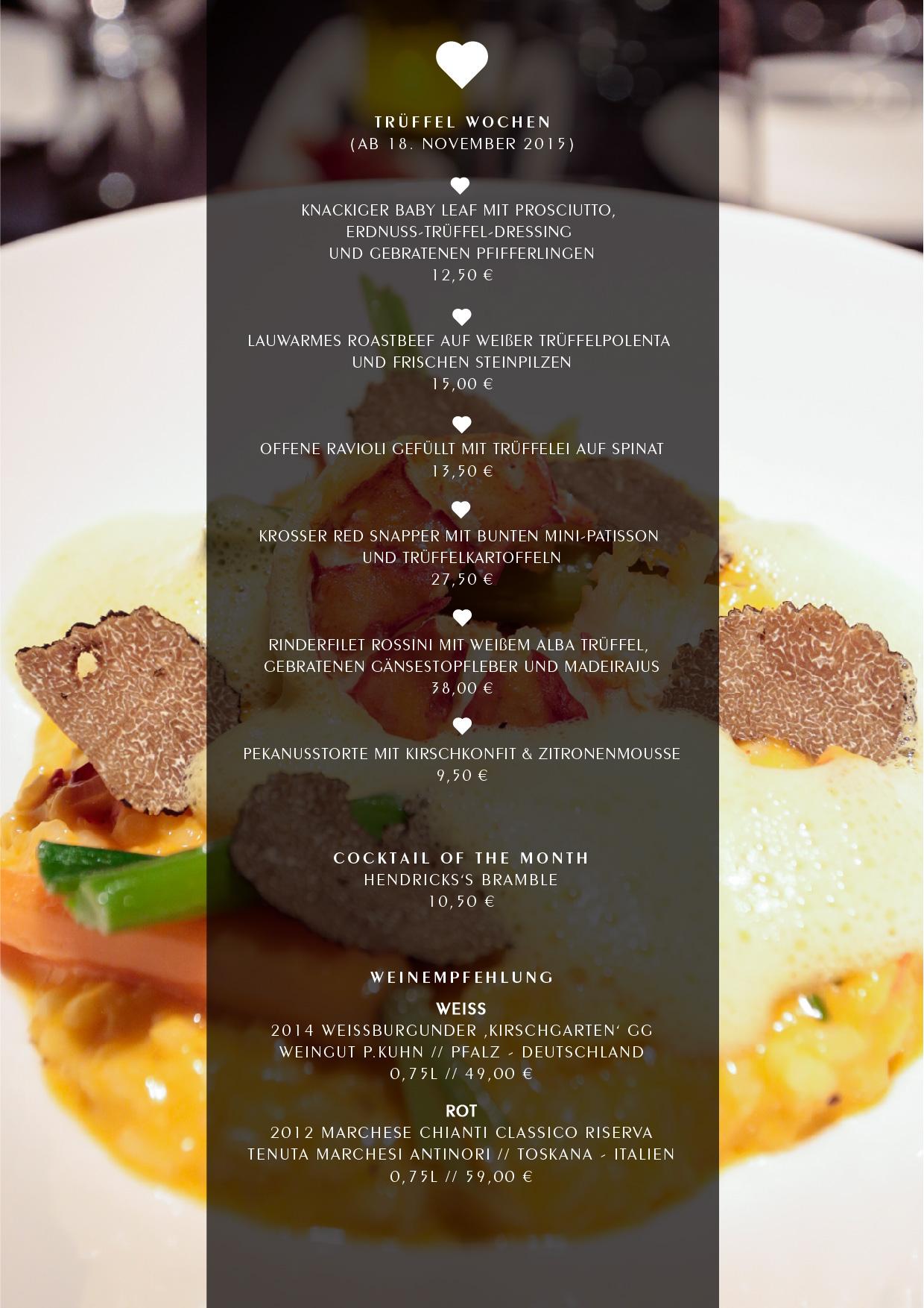 Trüffel Wochen - Heart Restaurant & Bar